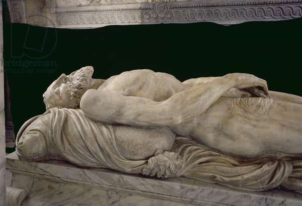 Effigy of Francois I (1494-1547) from the Tomb of Francois I and Claude de France (marble)