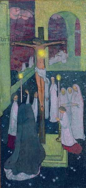 Crucified Sacred Heart, 1894 (oil on canvas)