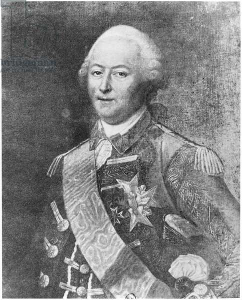 The Duke of Aiguillon (engraving) (b/w photo)