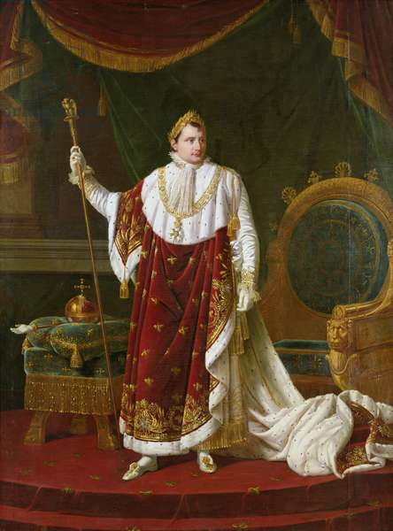 Portrait of Napoleon (1769-1821) in his Coronation Robes, 1811 (oil on canvas)