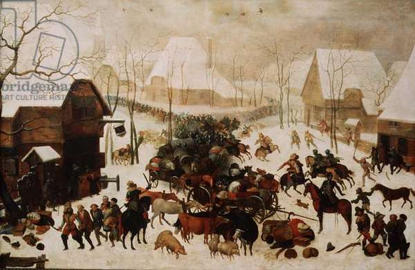 Fight in a Village, 1605 (oil on panel)