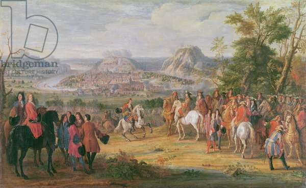 Louis XIV at the Siege of Besançon in May 1674 (oil on canvas)