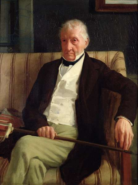 Portrait of Hilaire Degas (1770-1858), grandfather of the artist, 1857 (oil on canvas)