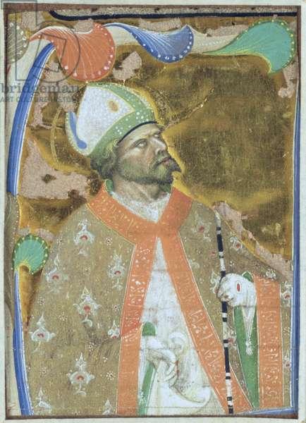 A Bishop Saint (vellum)