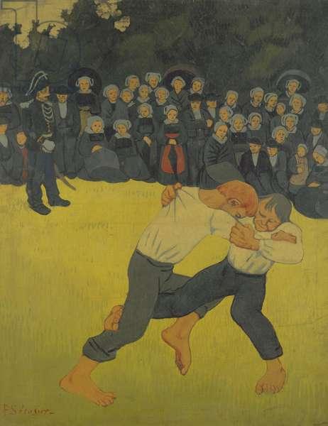The Wrestling Bretons, c.1893 (oil on canvas)