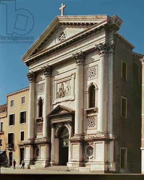 Facade of the Church of Santa Maria della Pieta, built 1745 (photo)