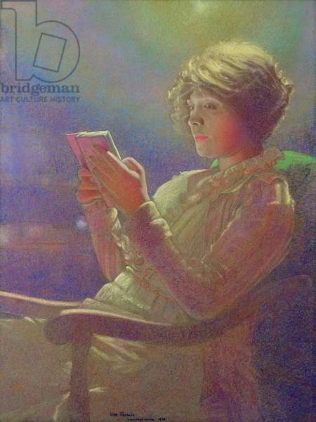 Woman Reading, 1921 (pastel on paper)