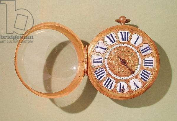 Watch, c.1685 (gilded brass & enamel)