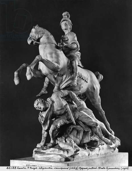 Alexander Victorious, after 1683 (see also 280145) (marble) (b/w photo)