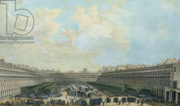 The Garden of the Palais Royal, 1791 (gouache on paper)