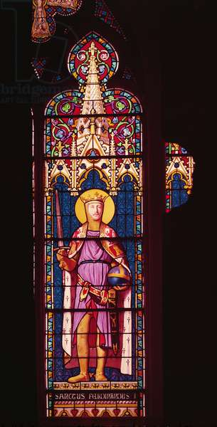 Window depicting Ferdinand d'Orleans (1810-42) as St. Ferdinand (1198-1252) Sevres Workshop (stained glass)