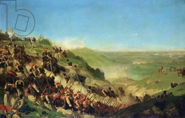 The Battle of Solferino, 24th June 1859 (oil on canvas)