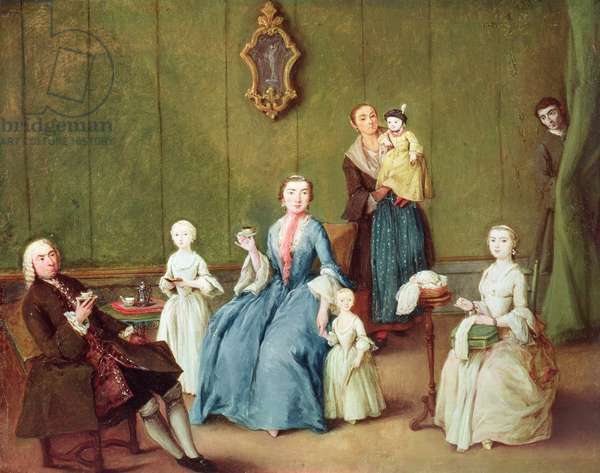 Venetian Family (oil on canvas)