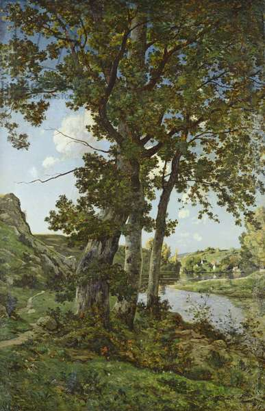 The Oaks of Chateau-Renard, 1875 (oil on canvas)