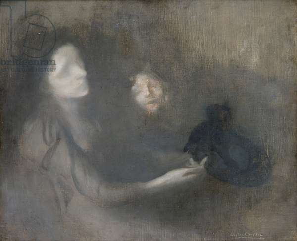 Woman with a Hat (oil on canvas)