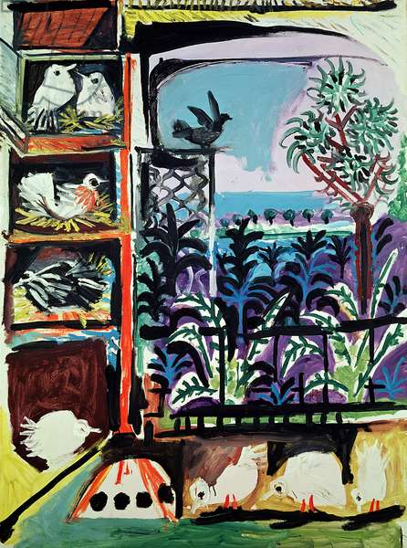 The Pigeons No.23, 1957 (oil on canvas)