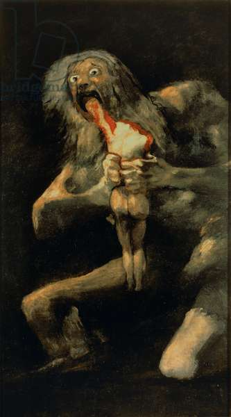 Saturn Devouring one of his Sons, 1821-23 (mural transferred to canvas)