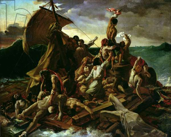 The Raft of the Medusa (oil on canvas)