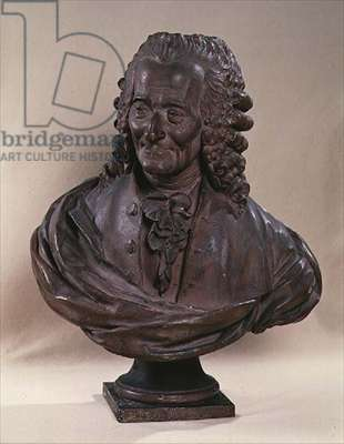 Bust of Voltaire (1694-1778) (stone)