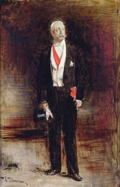 Study for the portrait of Felix Faure (oil on canvas)