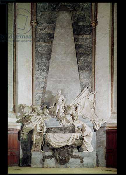Tomb of Marshal Maurice de Saxe (1696-1750) 1756-77 (marble)
