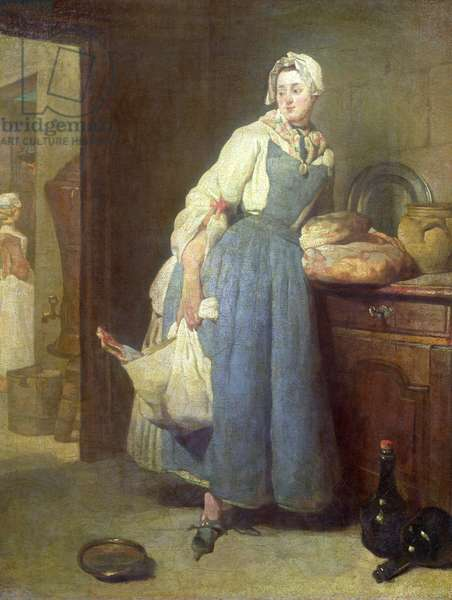 The Kitchen Maid with Provisions, 1739 (oil on canvas)