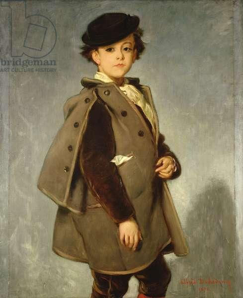 Edmond Dehodencq (1860-87) wearing an Inverness cape, 1872 (oil on canvas)