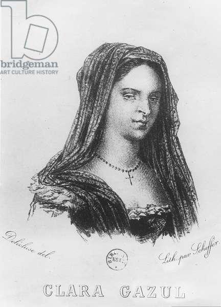 Portrait of Clara Gazul (litho)