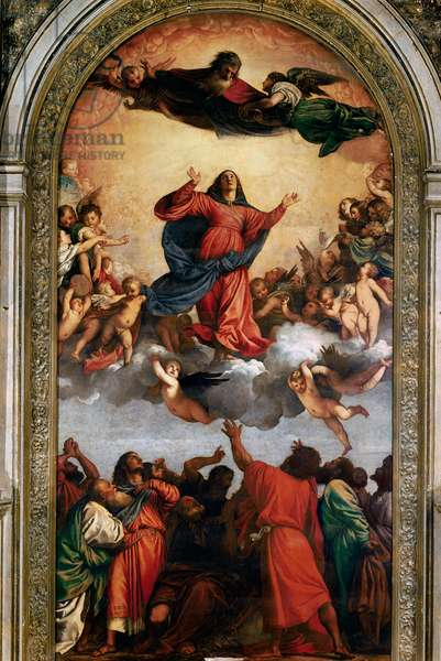The Assumption of the Virgin, 1516-18 (oil on canvas)