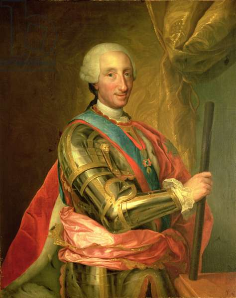 Charles III (1716-88) in Armour, after 1759 (oil on canvas)