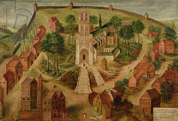 The Church of Saint-Gery, Cambrai, on the Mont des Boeufs, 1543 (oil on canvas)