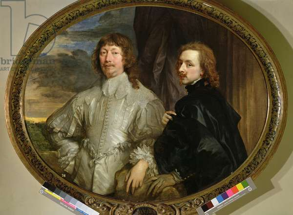Sir Endymion Porter and the Artist, c.1635 (oil on canvas)