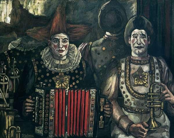The Clowns, 1920 (oil on canvas)