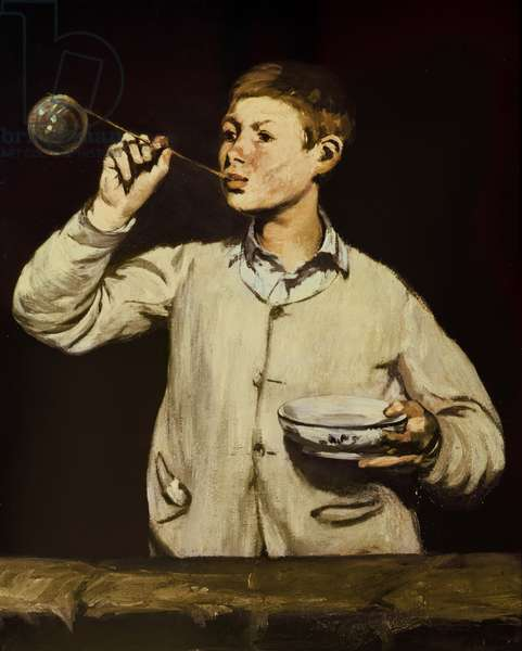 Boy Blowing Bubbles, 1867-69 (oil on canvas)