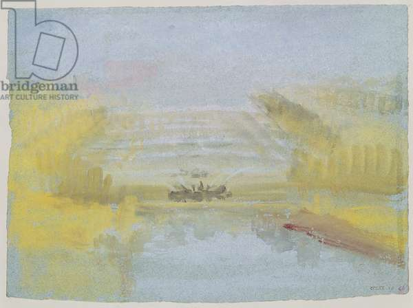 The Fountains at Versailles, 1826-33 (w/c on paper)