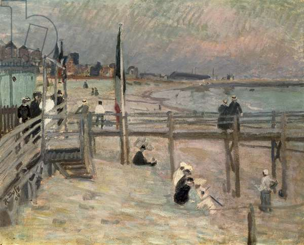 On the Beach at Sainte-Adresse, 1904 (oil on canvas)