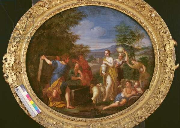 Jacob protecting Rachel (oil on canvas)