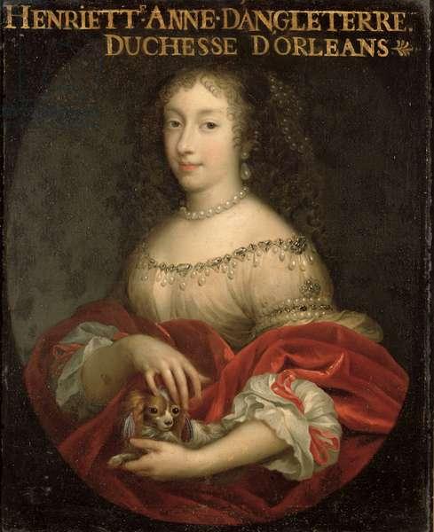 Henrietta Anne (1644-70) Duchess of Orleans (oil on canvas)