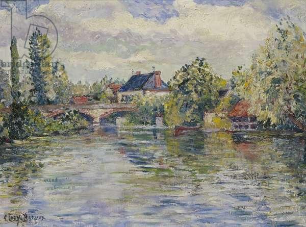 The Bridge of Garennes (oil on canvas)