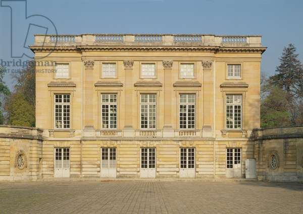 View of the Courtyard Facade of the Petit Trianon, built 1762-64 (photo)