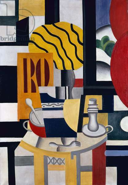 Still Life with Candlestick, 1922 (oil on canvas)