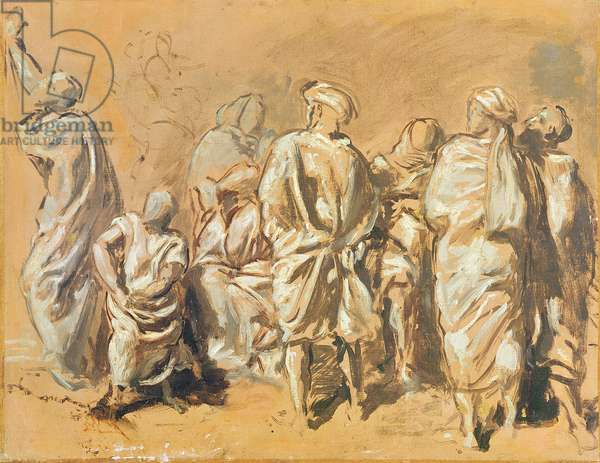 Study for the Descent from the Cross for the Church of Saint-Philippe-du-Roule: the Jews (oil on canvas)