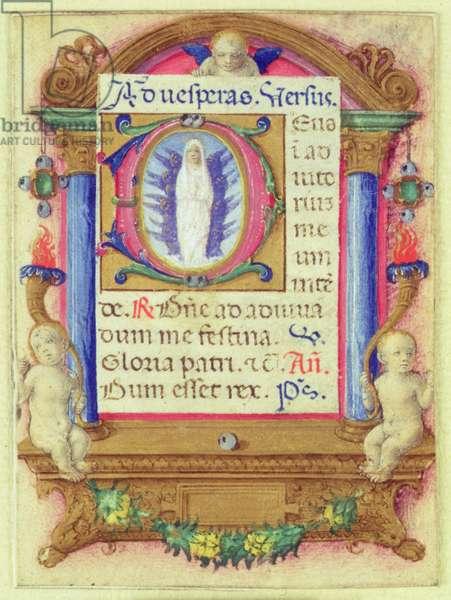 Virgin in Glory, c.1480 (vellum)