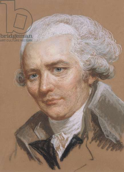 Portrait of Pierre Choderlos De Laclos (1741-1803), officer and French writer (pastel and w/c on paper)