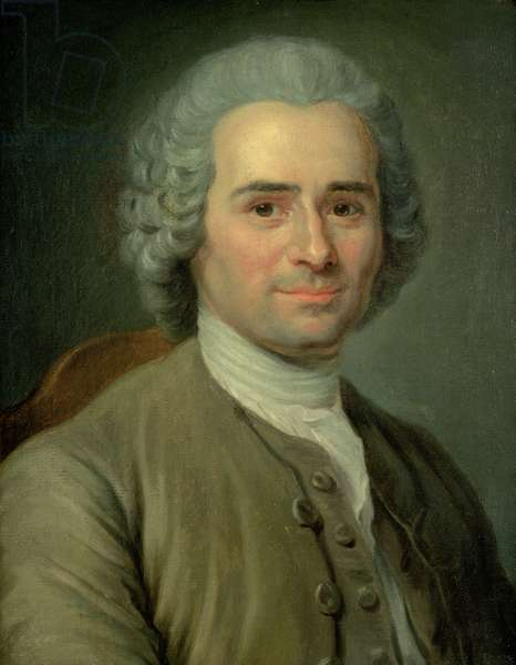 Jean-Jacques Rousseau (1712-78) (oil on canvas)