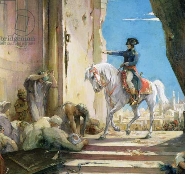 Napoleon Bonaparte (1769-1821) in the Grand Mosque at Cairo, c. 1890 (oil on canvas) (detail of 26200)