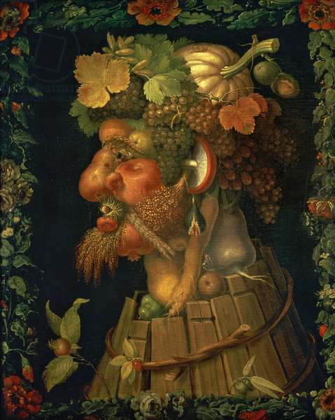 Autumn, from a series depicting the four seasons, commissioned by Emperor Maximilian II (1527-76) 1573 (oil on canvas)