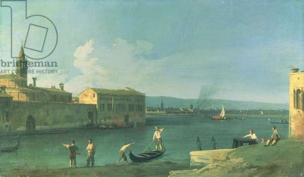 View of San Michele in Isola, Venice (oil on canvas)