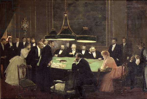 The Gaming Room at the Casino, 1889 (oil on canvas)