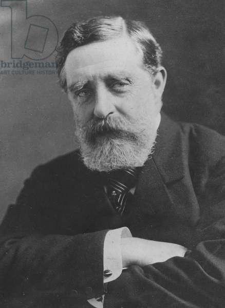Portrait of George Joachim Goschen (b/w photo)